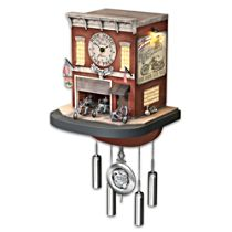 """Freedom Choppers"" Motorcycle Cuckoo Clock"