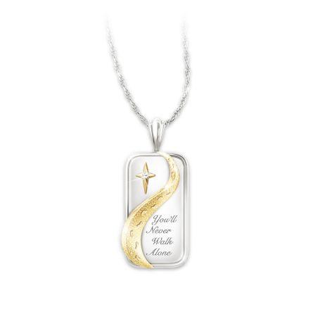 You'll Never Walk Alone Diamond Pendant Necklace