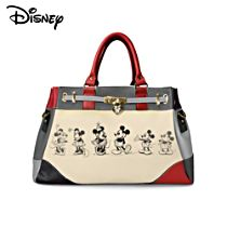 "Disney Mickey Mouse And Minnie Mouse ""Love Story"" Women's Handbag"