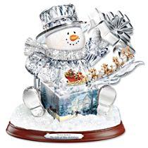 Thomas Kinkade 'The Gift Of The Holidays' Sculpture