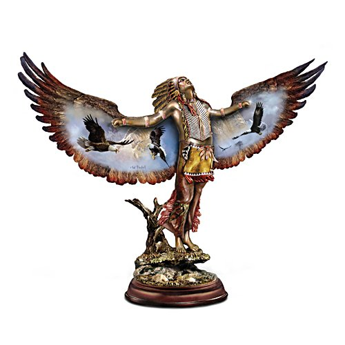Ted Blaylock Cold-Cast Bronze Eagle Dancer Sculpture