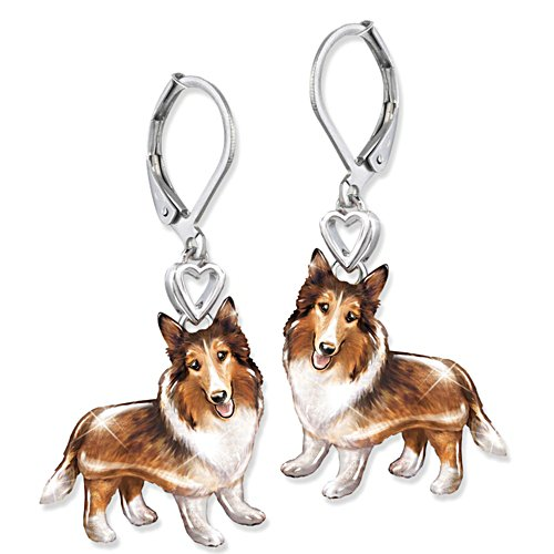 'Playful Pup' Collie Earrings