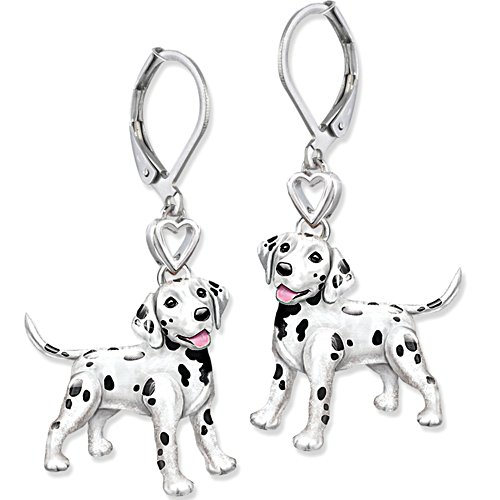 'Playful Pup' Dalmatian Earrings