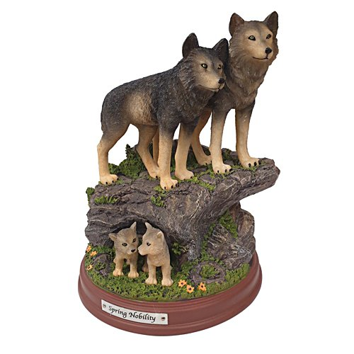 'Spring Nobility' Wolf Pack Sculpture