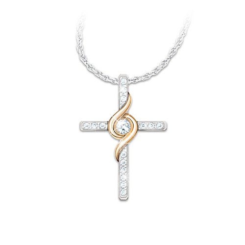 'Amazing Grace' Diamond Cross Necklace