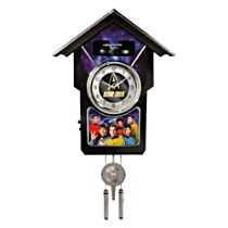 STAR TREK Wall Clock With Sound And Animation