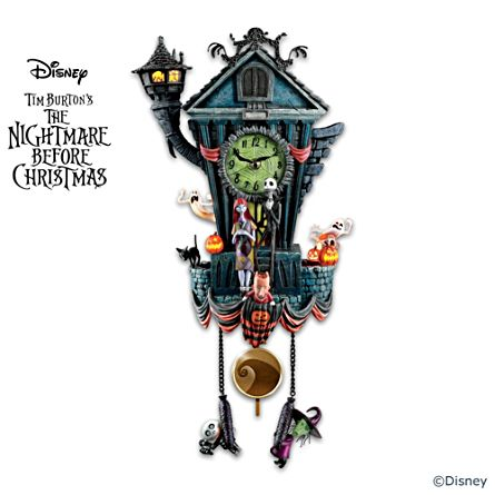disney tim burtons the nightmare before christmas wall clock - Tim Burtons The Nightmare Before Christmas