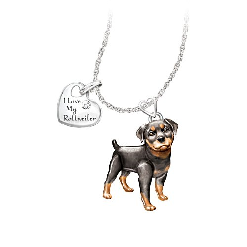 'Playful Pup' Rottweiler Diamond Pendant