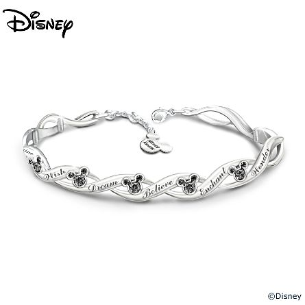 "Disney Mickey Mouse ""Magical Wishes"" Women's Bracelet With 15 Swarovski Crystals"