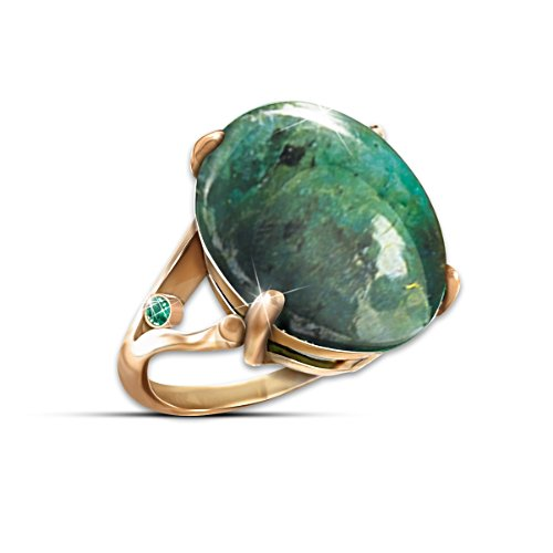 """Emerald Legend"" Ring With 12 Carats Genuine Emerald"
