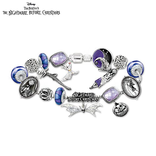 Disney Tim Burton's The Nightmare Before Christmas Women's Charm Bracelet