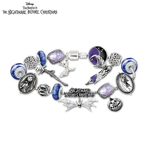 Disney Tim Burton's The Nightmare Before Christmas Women's Charm Bracelet