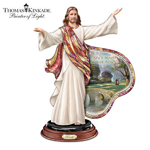 "Thomas Kinkade ""Journey Of Faith"" Jesus Sculpture"
