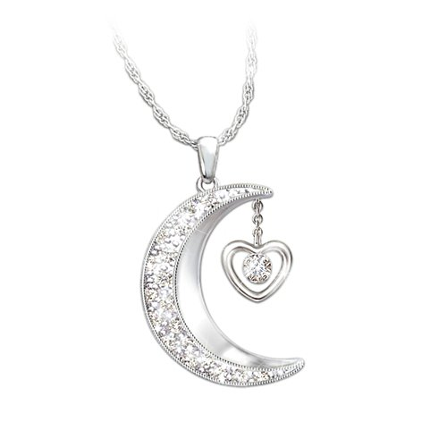'I Love You To The Moon And Back' Daughter Pendant