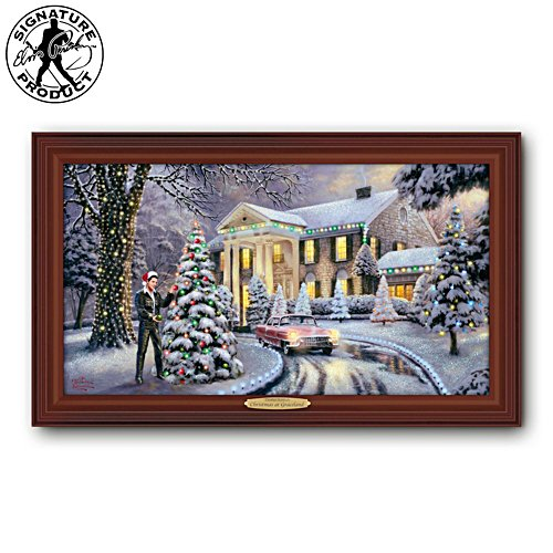 "Thomas Kinkade ""Christmas At Graceland"" Print"