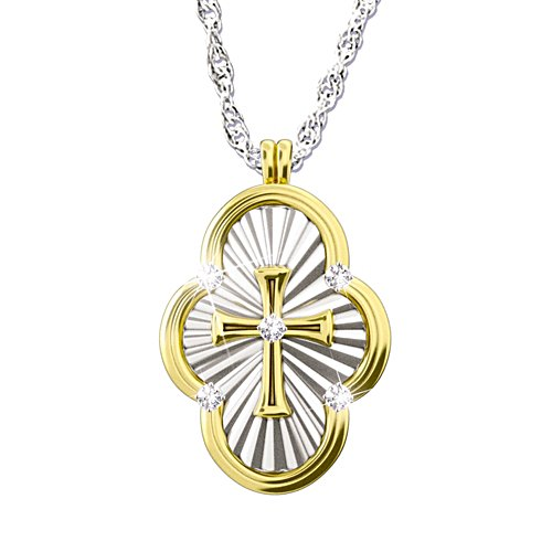 'A Saint's Love Of Faith' Diamond Cross Pendant