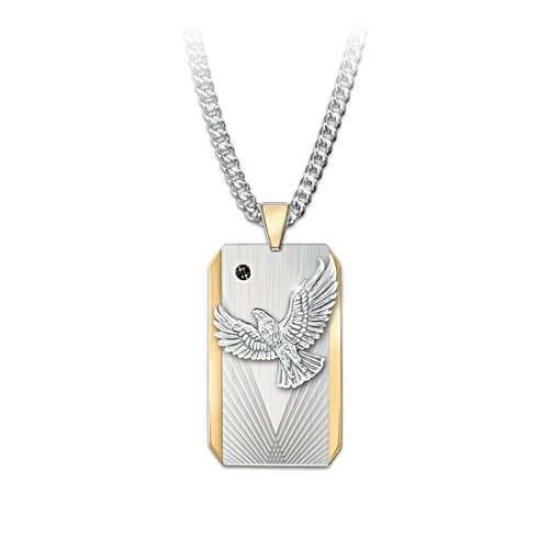 'Seize The Day' Dog Tag-Style Pendant