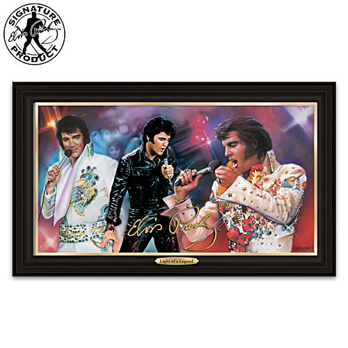 "Elvis Presley ""Light Of A Legend"" Canvas Print"