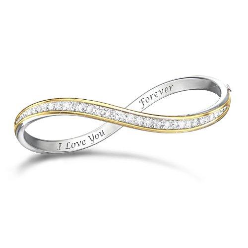 """""""Forever Love"""" 12-Diamond Infinity Bracelet"""