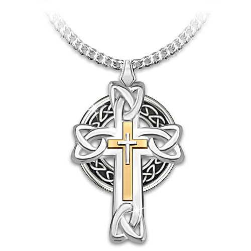 'Celtic Inspirations' Men's Cross Pendant