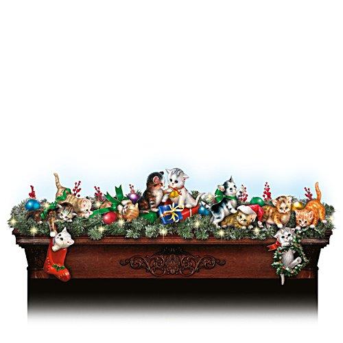 Tapsige Weihnachtsboten – Katzenskulpturen-Kollektion