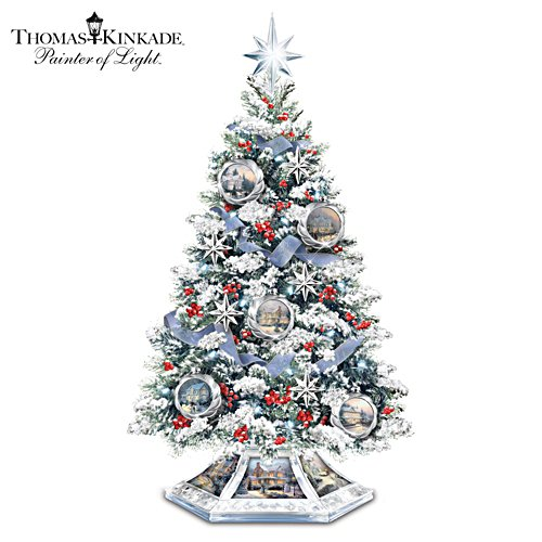 Thomas Kinkade 'Reflections Of The Season' Tree
