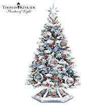Thomas Kinkade 'Reflections Of The Season' Tabletop Tree