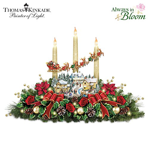 'The Lights Of Christmas' Table Centrepiece