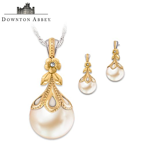 Downton Abbey-Inspired Pendant And Earring Set
