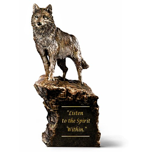 Vernimm den inneren Geist – Wolfskulptur