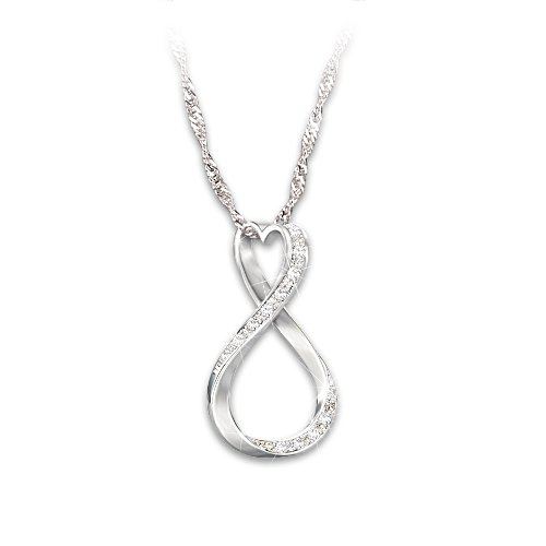 'Forever My Daughter' Diamond Infinity Pendant