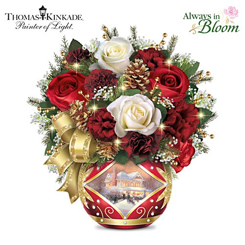 "Thomas Kinkade ""Holiday Cheer"" Centerpiece"