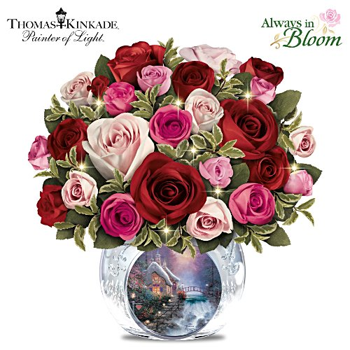 Thomas Kinkade Today, Tomorrow, Always Lighted Centrepiece