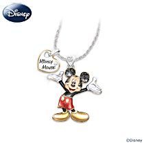 """Disney Mickey Mouse """"Magic In Motion"""" Women's Pendant Necklace"""