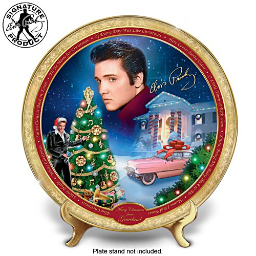 "Elvis Presley ""Merry Christmas From Graceland"" Collector Plate"