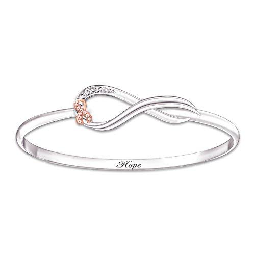 """""""Infinite Hope""""  Faceted Glass Bracelet"""