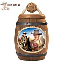 "John Wayne ""One Tough Cookie"" Cookie Jar With Images of Duke"