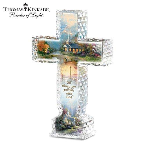 Thomas Kinkade 'Inspirations Of Hope' Crystalline Cross