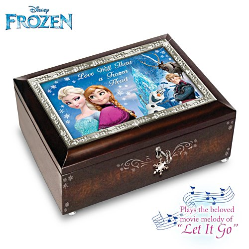 Disney FROZEN Mahogany-Finished Heirloom Music Box