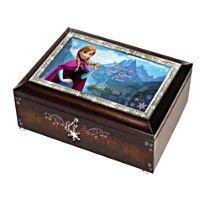 Disney FROZEN Mahogany-Finished Heirloom Love is an Open Door Music Box