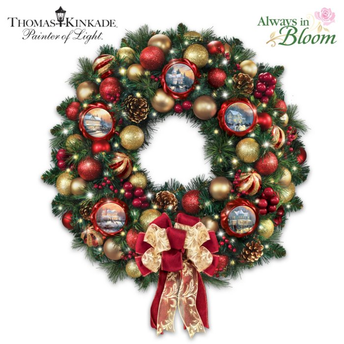 Thomas Kinkade Season Of Splendour Wreath