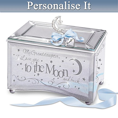 """Granddaughter, I Love You To The Moon"" Personalised Music Box"