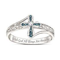 """Heavenly Grace"" Diamond Cross Ring"