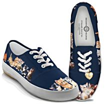 Jürgen Scholz Kitty-Kat Cute Women's Canvas Art Shoes