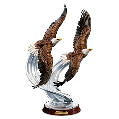 """Soaring Splendour"" American Bald Eagle In Flight Sculpture"