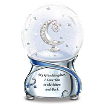'Granddaughter, I Love You To The Moon' Musical Glitter Globe