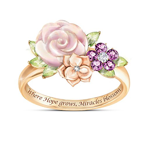 """Miracle Blossoms"" Gemstone Ring"