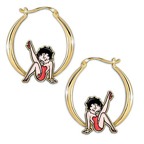 "Betty Boop ""Kick Up Your Heels"" Hoop Earrings"