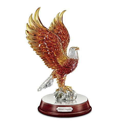 """Nature's Majesty"" Illuminated Art Glass Eagle Sculpture"