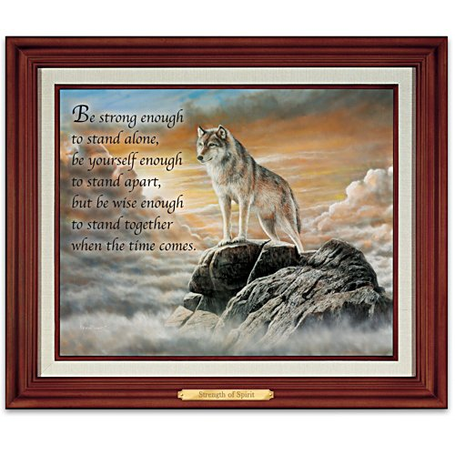 """Strength Of Spirit"" Illuminated Canvas Print"